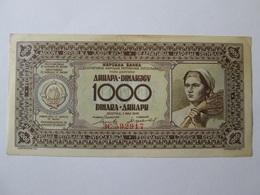 Yugoslavia 1000 Dinara 1946 Banknote In Very Good Conditions - Yugoslavia