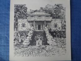 Lot De 7 Lithographies Créoles De Maisons Réunionnaises - Signées Pellet - 1975 - Lithographies