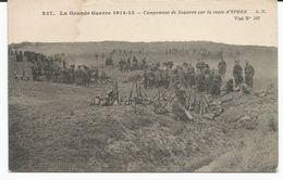 LA GRANDE GUERRE 14-15 CAMPEMENT DE ZOUAVES BIJ IEPER - War 1914-18