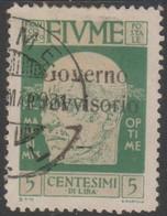 Fiume 1921 5 Cent Sa149 1v (o) - 8. WW I Occupation