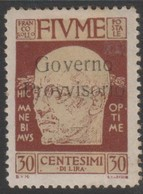 Fiume 1921 30 Cent Sa154 1v MH/* - 8. WW I Occupation