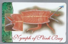 SG.- Telefoonkaart.- Singapore - Nymph Of Stink Bug, Singapore Telecom. $5. 113SIGB - Singapore