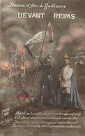 - Themes - Ref-A386- Guerre 1914-18 - Patriotique - Jeanne D Arc à Guillaume II Devant Reims - Marne - - Patriotiques