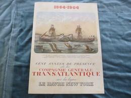 Compagnie Generale Transatlantique French Line  Paquebot France Menu De Gala 14.06.1964 - Menus