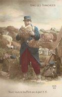 - Themes - Ref-A383- Guerre 1914-18 - Patriotique -pas De Pain K K Dans Les Tranchées - Boulangerie - - Patriotiques
