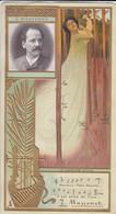 CHROMO---LEFEVRE-UTILE--J. MASSENET--( Femme + Harpe )-voir 2 Scans - Lu