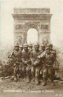 - Themes - Ref-A379- Guerre 1914-18 - Patriotique - Entree Des Allemands A Paris - Arc De Triomphe - - Patriotiques