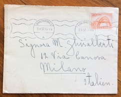 SVERIGE SVEZIA  COVER TO  KARLSKRONA   FROM MILANO   ITALY THE 9/4/57 - Francobolli