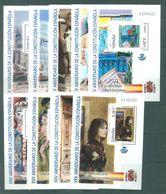 SPAIN - 2003 - MNH/*** LUXE - BLOC - Yv 122-131 - 130 NOT PRESENT- Lot 16498 - Blocs & Feuillets