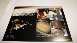 "Bloc ""50 Years Of Space Exploration Atlantis"" + Espace - Space"