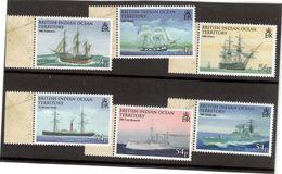 CP 65 - OCEAN INDIEN - PO 415/420** (MNH) De 2009 - ENDEAVOUR-BEAGLE-VICTORY-WINDSOR CASTLE-FÜRST BISMARCK-EDINBURGH. - Territoire Britannique De L'Océan Indien