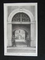 CPA SAINT HIPPOLYTE DU FORT L'ENTREE DE L'ECOLE MILITAIRE (30 GARD) 1928 ANIMEE POILUS - Autres Communes