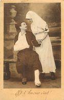 """- Themes - Ref-A368- Guerre 1914-18 - Infirmiere Croix Rouge Et Zouave Blessé - """" Et L Amour Vint ! """" - Voir Etat - - Patriotiques"""