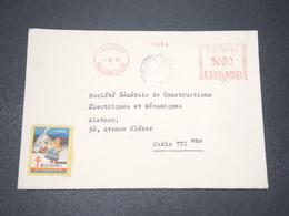 FINLANDE - Enveloppe De Helsinki Pour La France En 1946 , Affranchissement Mécanique , Vignette - L 15438 - Finland