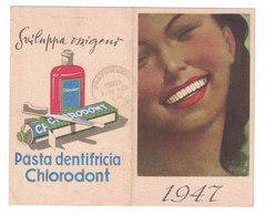 CALENDARIETTO 1947 PASTA DENTIFRICIA CHLORODONT  Illustratore BOCCASILE - Calendars