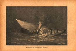 Torpedoboot Von Einem Kreuzer Ueberrannt /Druck,entnommen Aus Zeitschrift /Datum Unbekannt - Books, Magazines, Comics