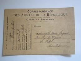 1916 CORRESPONDANCE DES ARMEES DE LA REPUBLIQUE 26e D'At 3e Batterie Secteur Postal 70 (déchirure) - Guerra 1914-18