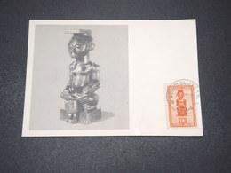 CONGO BELGE - Carte Maximum 1952 , Statuette , édition Biomarine De Dieppe - L 15443 - 1947-60: Lettres