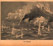 Die Seeschlacht /Druck,entnommen Aus Zeitschrift /Datum Unbekannt - Books, Magazines, Comics