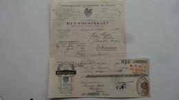 Caussade Tarn Et Gaonne Chapeaux De Paille Rey Cousins Et Cie 1932 - Textile & Vestimentaire