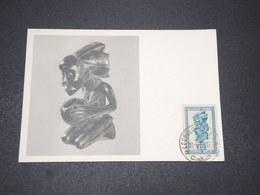 CONGO BELGE - Carte Maximum 1952 , Statuette , édition Biomarine De Dieppe - L 15444 - 1947-60: Lettres