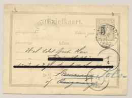Nederlands Indië - 1880 - Briefkaart G4, Van VELDPOSTK.ATJEH En Puntstempel 66 Via Soerakarta Naar Semarang (en Verder) - Niederländisch-Indien