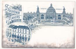 Antwerpen: Souvenir D' Anvers. Hotel Stadt Frankfurt. (litho) - Antwerpen