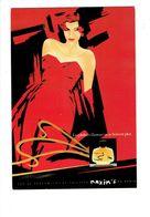 Cpm Illustration Publicité, Parfum MAXIM'S De PARIS - Illustration Tadeusz Piwinsky Femme épaule Nue Pin'up - Pubblicitari
