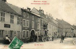 CPA - CORCIEUX (88) - Aspect De La Rue Henry Et Du Restaurant André En 1909 - Corcieux