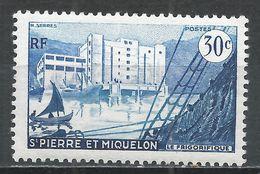 St. Pierre & Miquelon 1956. Scott #346 (M) Fish Freezing Plant * - St.Pierre Et Miquelon