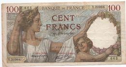 Sully  -  100 Francs 17/4/1941  --  état  TB - 1871-1952 Gedurende De XXste In Omloop
