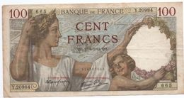 Sully  -  100 Francs 17/4/1941  --  état  TB - 100 F 1939-1942 ''Sully''