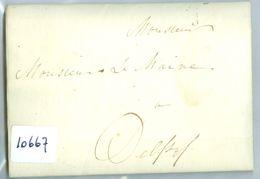 HANDGESCHREVEN BRIEF Uit 1812 Gelopen Van LOKAAL DELFZIJL Aan De BURGEMEESTER TE DELFZIJL (10.667) - Holanda