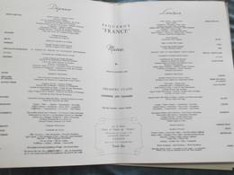 Compagnie Generale Transatlantique French Line  Paquebot France Croisière Aux Canaries Menu Diner  Du  23 .01.1962 - Menus