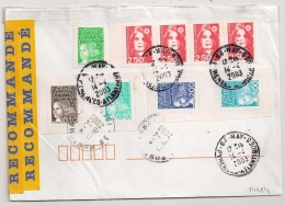 Timbres Issus De Blocs, Carnet Et Roulette. 64 NAY Pyrénées Atlantique. RECOMMNDE. - Postmark Collection (Covers)