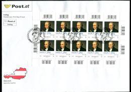 """Österreich 2009 Big First Day Cover Joseph Haydn Mi.Nr.2799 """"200.Todestag Von Joseph Haydn,Komponist""""1 FDC - Musik"""