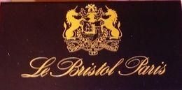 Pochette D'allumettes-Hôtel/Restaurant Le BRISTOL (Paris) 3 Scans-TBE - Matchboxes