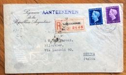 NEDERLAND PAESI BASSI  COVER LEGACION DE LA REPUBBLICA ARGENTINA REGISTERED TO GRAVENHAGE  FROM GENOVA ITALY THE 21/7/48 - Periodo 1891 – 1948 (Wilhelmina)