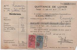 Quittance De Loyer /Reçu/Timbre Fiscal 13 Francs Surchargé 10, Et 1 Franc / Boulogne-Billancourt/ 1950       QUIT29 - Old Paper