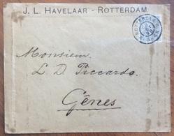 NEDERLAND PAESI BASSI  COVER J.L.HAVELAAR - ROTTERDAM  12,5 C.  FROM GENOVA ITALY THE 28/10/98 - Brieven En Documenten