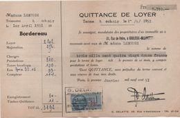 Quittance De Loyer /Reçu/Timbre Fiscal 11 Francs/ Boulogne-Billancourt/ 1951       QUIT31 - Old Paper