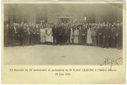 Autographe Albert Lejeune. Souvenir 25è Anniversaire De Professorat.Institut Meurice 15/6/1924.Photo Des Participants. - Autographes