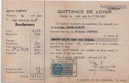 Quittance De Loyer /Reçu/Timbre Fiscal 13 Francs / Boulogne-Billancourt/ 1951       QUIT33 - Old Paper