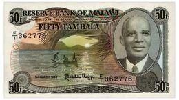 MALAWI 50 TAMBALA 1986 Pick 18 AUnc - Malawi