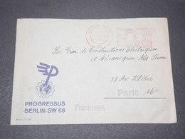 ALLEMAGNE - Enveloppe Commerciale De Berlin Pour Paris En 1941 , Affranchissement Mécanique - L 15476 - Deutschland