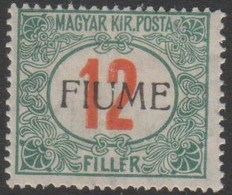 Fiume 1915 12 Filler Sa9 1v. MH/* - 8. WW I Occupation