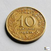 Francia - 10 Céntimes - 1963 - Francia