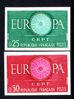 FRANCE - N°1266 - EUROPA 1960 - NON DENTELE - LUXE. - Ongetand