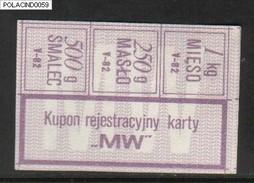 POLAND RATION COUPON 1982-05 TYPE M-W - Zubehör