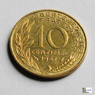 Francia - 10 Céntimes - 1987 - D. 10 Céntimos